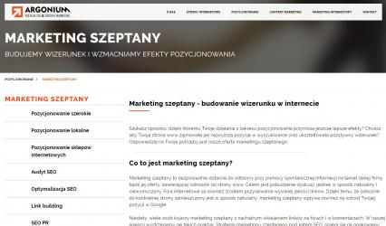 Argonium - marketing szeptany